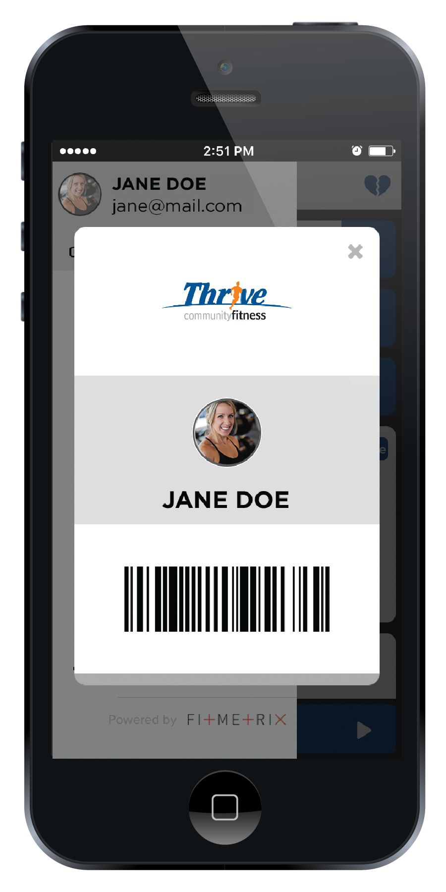THRV AppPromo ScreenMockups Checkin